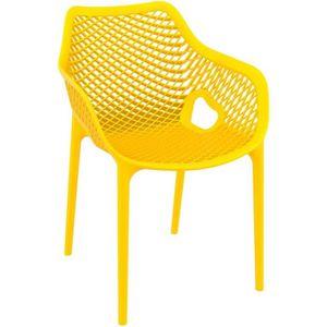 FAUTEUIL JARDIN  Chaise de jardin / terrasse 'SISTER' jaune en mati