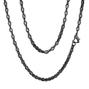 SAUTOIR ET COLLIER Collier SY0LZ collier de desgin en acier inoxydabl