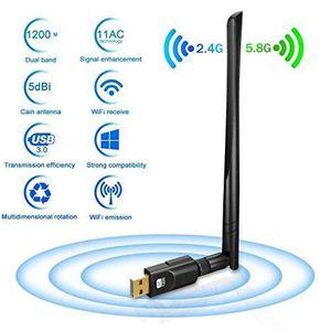 CLE WIFI - 3G Dongle Wifi 1200Mbps,Deepow Clé Wifi Adaptateur US
