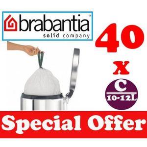 SAC POUBELLE 40X 40X 10-12Litres Brabantia Smartfix Sacs Pou
