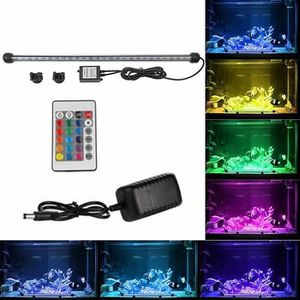DÉCO ARTIFICIELLE 18cm LED Aquarium Fish Tank Light Bar submersible