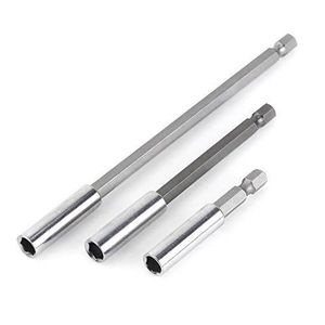 "3PC magnétique porte-embout Set 75 Mm 100 mm Extension 150 mm Barres CRV 1//4/"" tige hex"