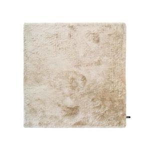 COUVERTURE - PLAID Tapis shaggy à poils longs Whisper Beige 200x200 c