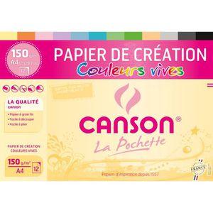 PAPIER A DESSIN CANSON Pochette papier de création 12 feuilles A4