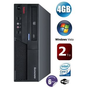 UNITÉ CENTRALE  Lenovo ThinkCentre M58P 4Go HDD 2To