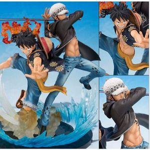 FIGURINE - PERSONNAGE Figurine One Piece Luffy Trafalgar Law 16cm