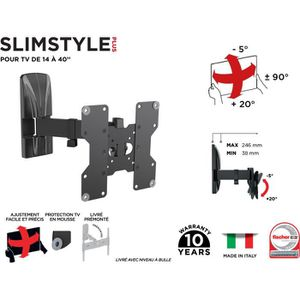 FIXATION - SUPPORT TV MELICONI 480975 Support mural TV inclinable et ori