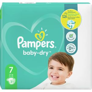 COUCHE Pampers Baby-Dry Taille7, 31Couches