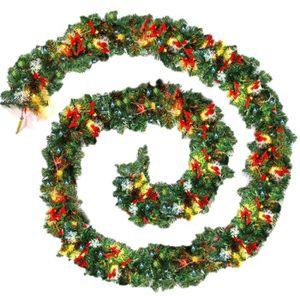 OBJET DÉCORATIF Guirlande De Noël Unie Verte De 9Pied/270Cm Avec L
