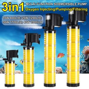 POMPE - FILTRATION  TEMPSA 3 en 1 Aquarium Pompe Filtre Poisson Ultra