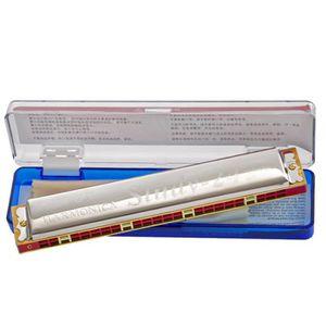 or Color : Silver noir Harmonica chromatique 16 trous pour performances de niveau professionnel Harmonica argent