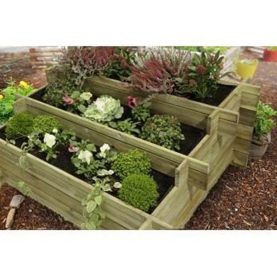 Jardin Potager A Etage En Bois Traite 120 X 100 Achat