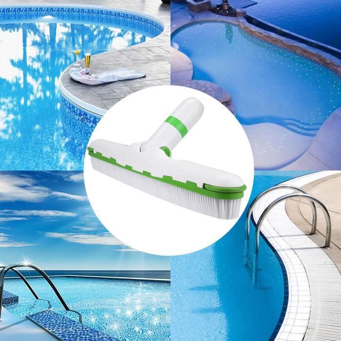 【Bonnet de bain】Brosse de piscine lourde pour plancher de piscine, 18 pouces, balaie facilement les algues de piscine_YU7039