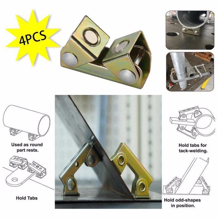 【EQUERRE DE FIXATION 】Pinces de soudage magnétiques réglables V Pads Support de montage Outil à main Strong Welde xiao481