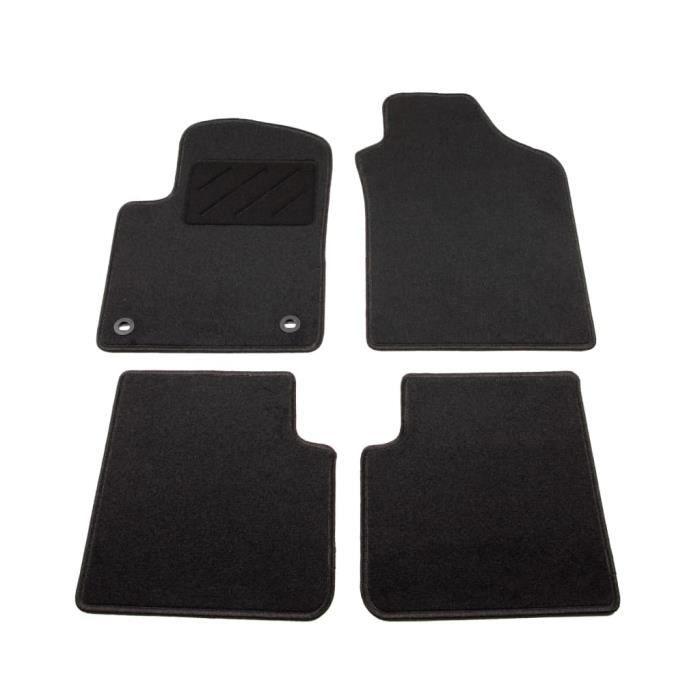 MEE-4 pcs Tapis De Sol Kit Complet Sur Mesure de Voiture pour Fiat 500