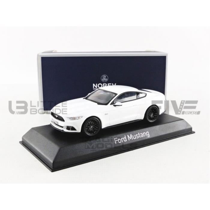 Voiture Miniature de Collection - NOREV 1/43 - FORD Mustang - 2016 - White - 270556