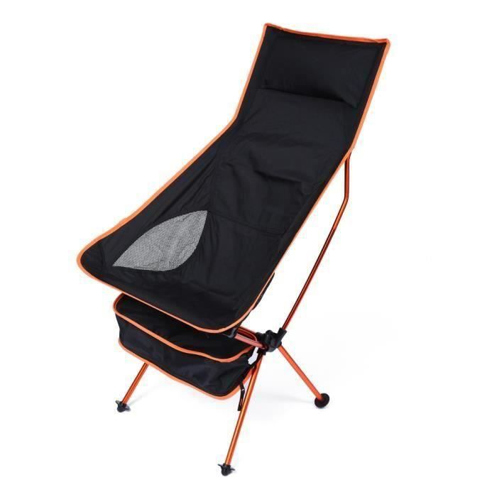 Fauteuil chaise de plage de camping pliant super léger ORANGE ROSE0959
