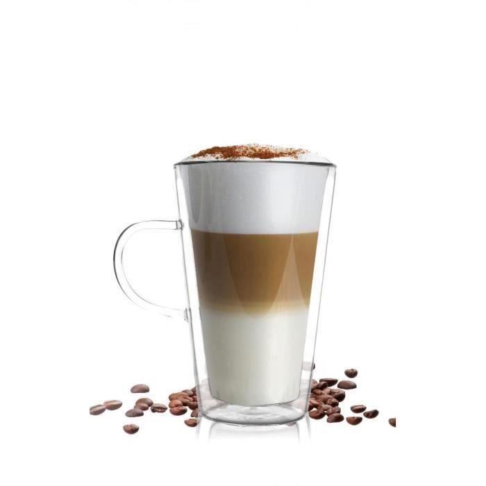 Vialli Design à double Paroi en verre à latte 320 ml