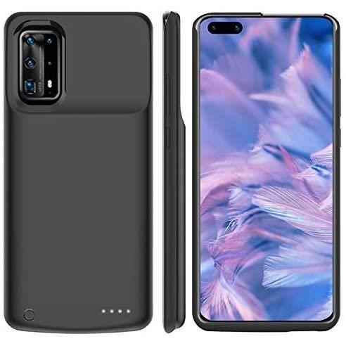 Coque Batterie Huawei P40, 6500mAh Power Bank Rechargeable étui de Chargeur Prolongée Housse de Batterie Portable Compatible(Noir)
