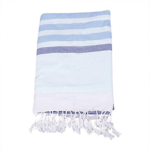 EX6998 Serviette de plage à rayures en coton turc serviette de plage à rayures épaisses serviette en lin de coton 180X90