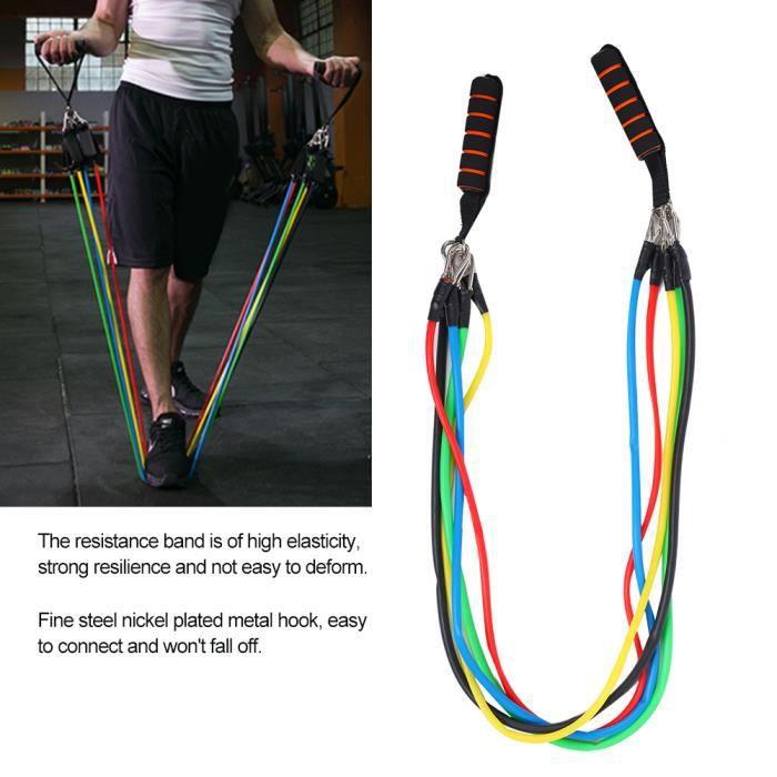 11 Pcs- Set bande elastique fitness musculation Sport de resistance traction large kit sangle Elastiband exercice -RAI