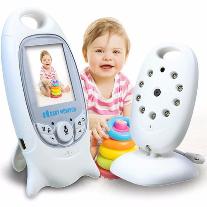 L'écoute-bébé Babyphone Norme EU Vidéo Caméra Surveillance Numérique sans Fil avec 2.0-LCD Moniteur Bébé
