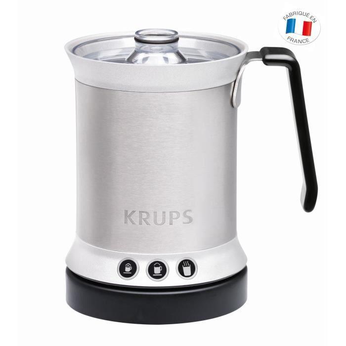 KRUPS XL200041 Mousseur à lait automatique - 500W - 3 fonctions - Inox