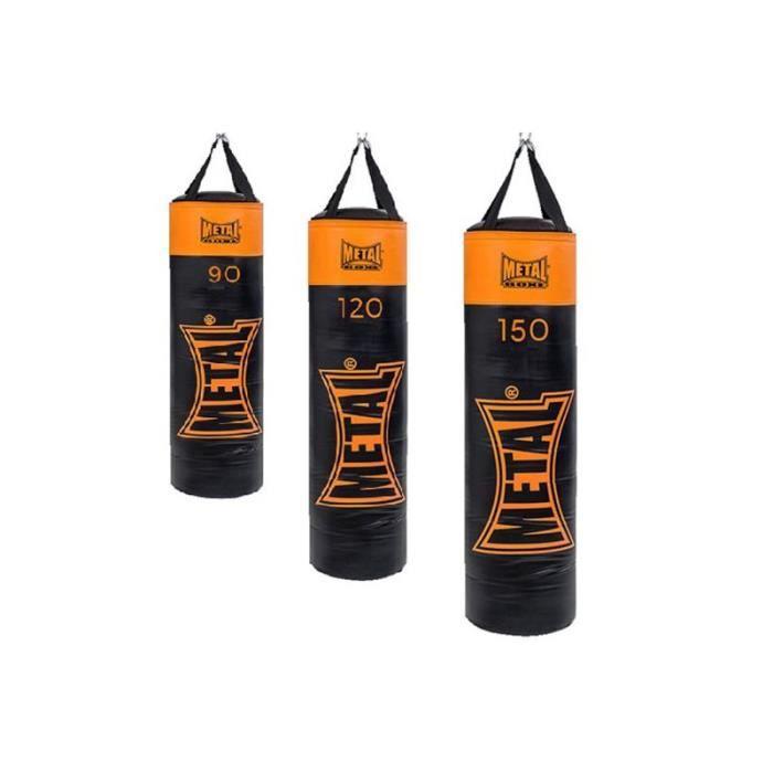 Sac de frappe Metal boxe Indiana vide 90 cm noir orange 120 cm Noir