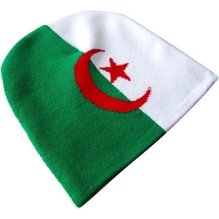 BONNET ALGERIE HOMME FEMME ENFANT FILLE GARCON - No écharpe maillot fanion casquette drapeau algérien ...