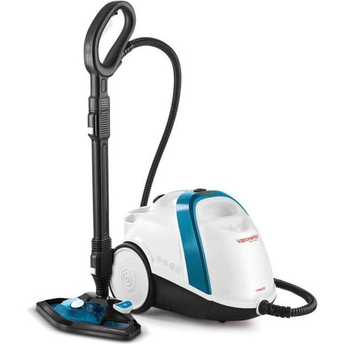 Polti Vaporetto Smart 100_B, Cylinder steam cleaner, Buttons, Stainless steel, Blue,White, 1500 W, Glass,Hard floor,Laminate,Tiles