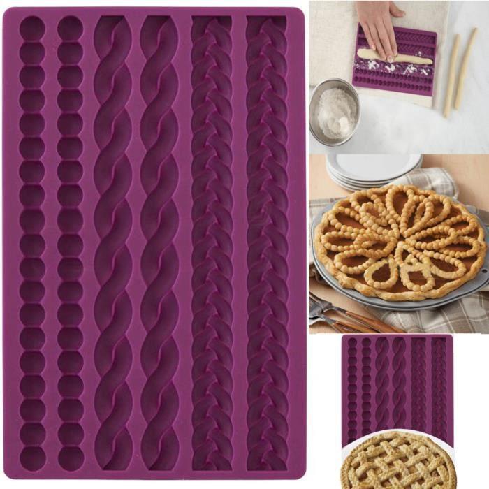TEMPSA 3D Silicone Moule Corde Tricote à Gâteau Fondant Pâtisserie Sucre Pour Cuisine