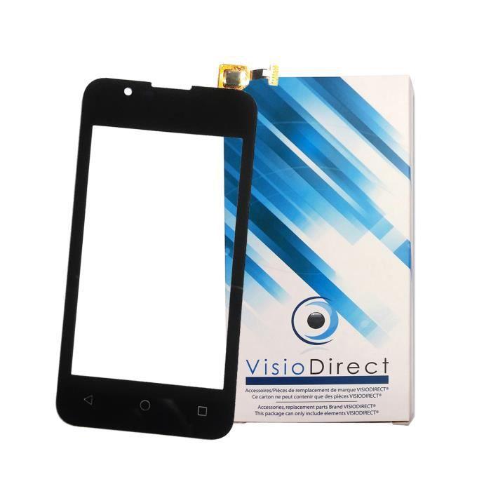 Vitre ecran tactile pour Wiko Sunny 2 4- noir téléphone portable -VISIODIRECT