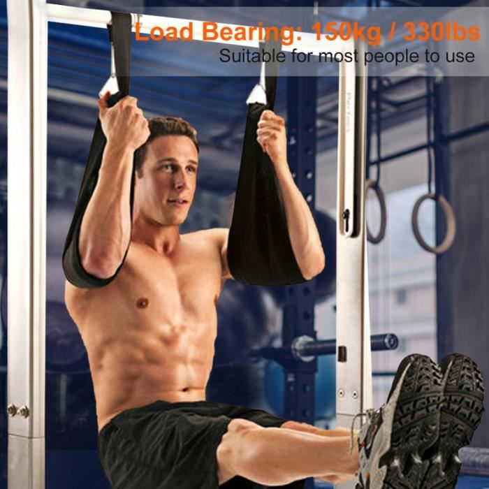Sangles Abdo Gym kit entraînement STEPPER CLIMBER Fitness suspension bras abdominaux Haltérophilie