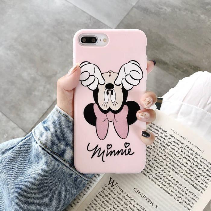 coque iphone 7 plus 8 plus minnie rose