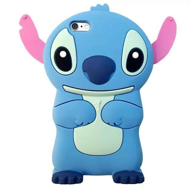 coque iphone 5 5s se disney stitch 3d cartoon bump