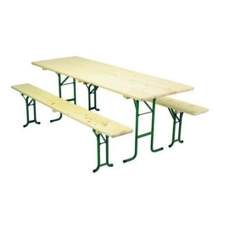 Ensemble Haguenau Table Banc Pliable Empilable 220x70cm Vendus Par 4 Achat Vente Salon