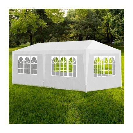 tonnelle de jardin tente de r ception chapiteau blanc 3x6m stylashop achat vente tonnelle. Black Bedroom Furniture Sets. Home Design Ideas