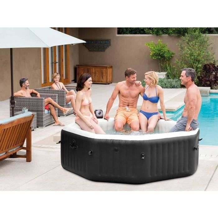 spa gonflable intex pure spa jets et bulles 6 personnes. Black Bedroom Furniture Sets. Home Design Ideas