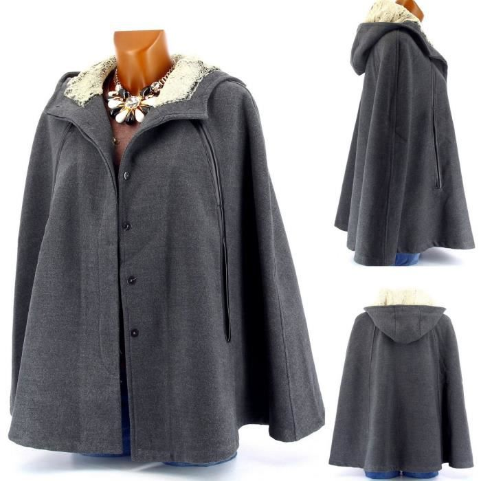 Cape manteau fourure