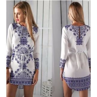 robe de plage imprim style boh me blanc achat vente robe de plage soldes d s le 27 juin. Black Bedroom Furniture Sets. Home Design Ideas