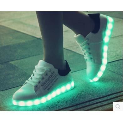 Chargement USB LED lumineuses Ghost Dance étape chaussures hommes chaussures Glow respirant nufcJEDI6S