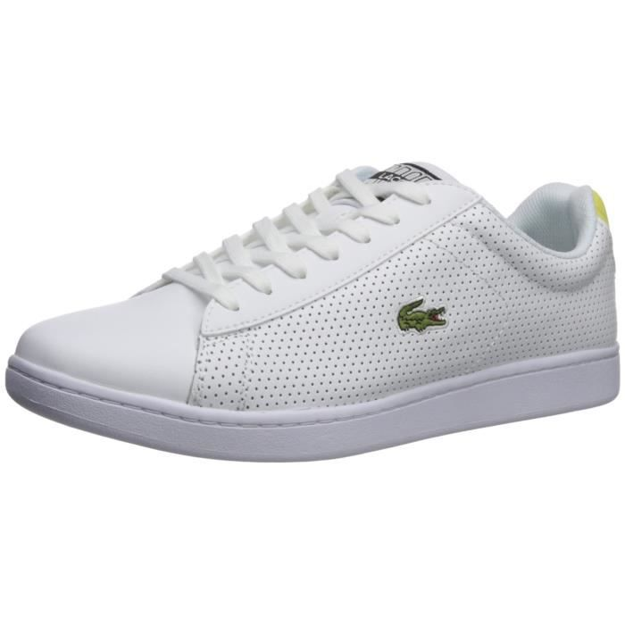 4ef16ce0a43 Lacoste Men s Carnaby Evo Sneaker OOGGA Taille-42 Blanc Blanc ...
