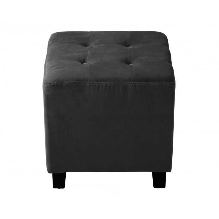 pouf capitonn velours gris anthracite am lie achat vente pouf poire velours cdiscount. Black Bedroom Furniture Sets. Home Design Ideas