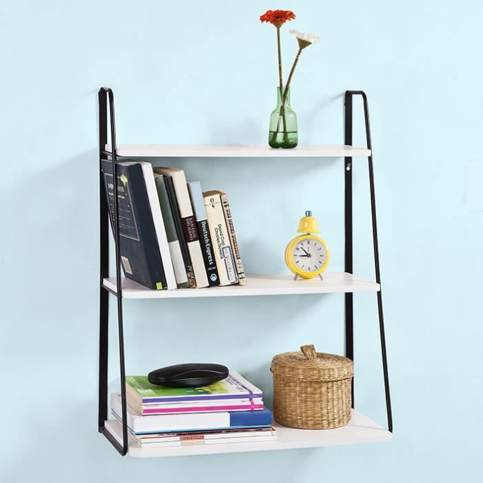 etagere murale metal livres achat vente etagere murale metal livres pas cher cdiscount. Black Bedroom Furniture Sets. Home Design Ideas