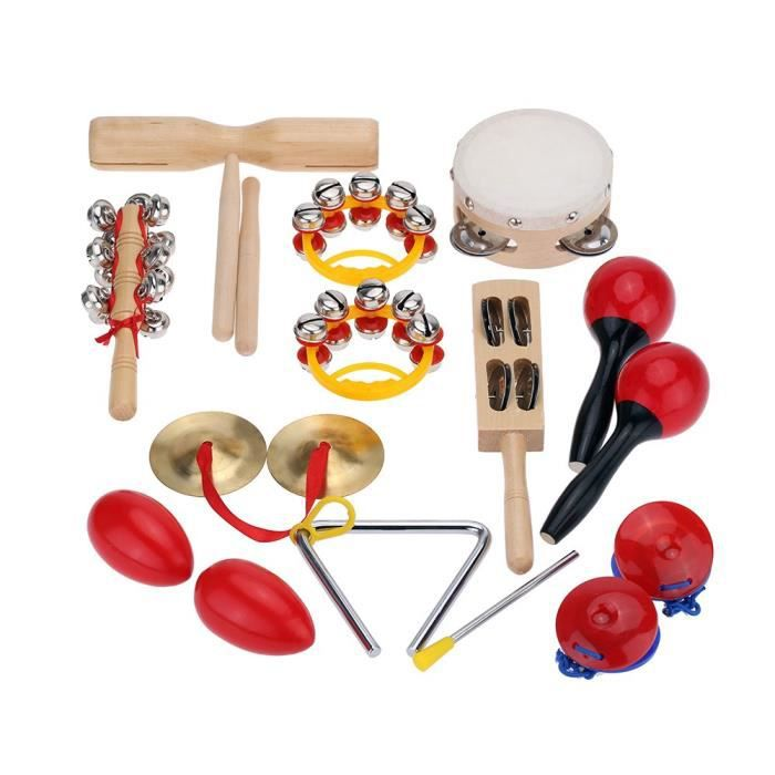 kit de percussion enfants instruments de musique jouets. Black Bedroom Furniture Sets. Home Design Ideas