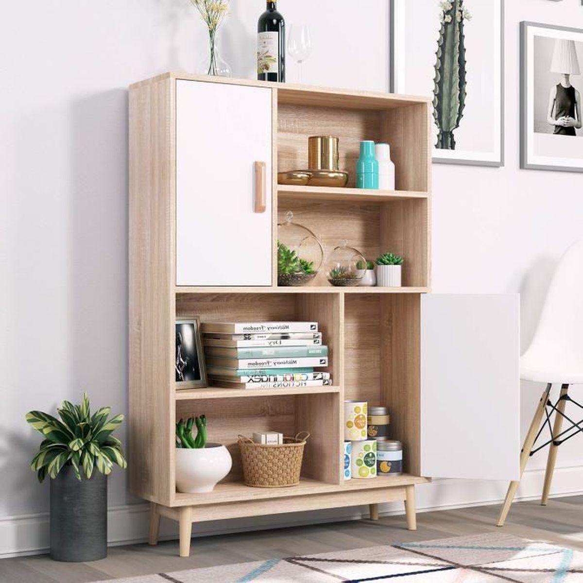Ajouter Une Étagère Dans Un Placard homfa etagères scandinave meuble de rangement avec placard