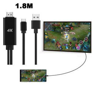 CÂBLE TV - VIDÉO - SON USB C de type C vers HDMI 4K Câble TV HDTV Adaptat