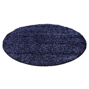 tapis rond bleu achat vente tapis rond bleu pas cher cdiscount. Black Bedroom Furniture Sets. Home Design Ideas
