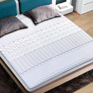 SUR-MATELAS Surmatelas à mémoire de forme 90 x 190 cm - Blanc