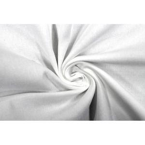 TISSU Tissu Gabardine Épaisse Blanc -Coupon de 3 mètres